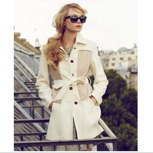 Anthropologie Elevenses Colette wool trench coat 4
